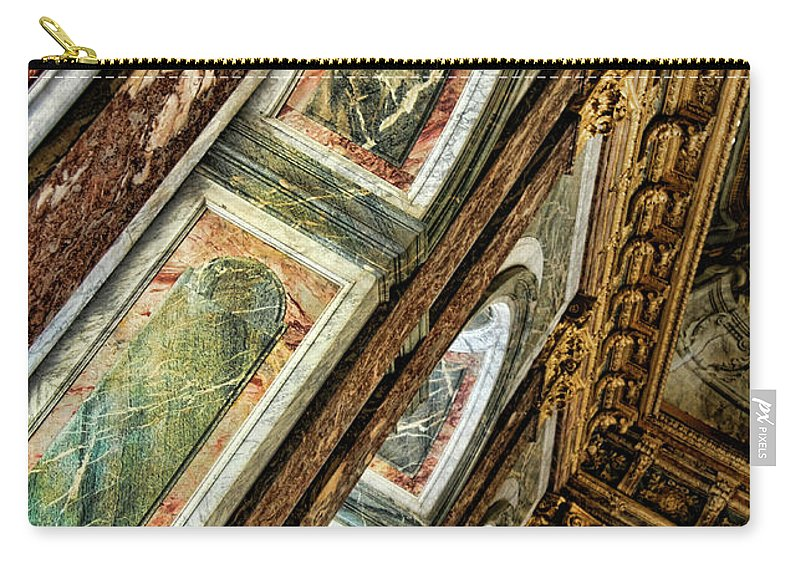 France Carry-all Pouch featuring the photograph Delicate Details Versailles Chateau Up Close Interior France by Chuck Kuhn