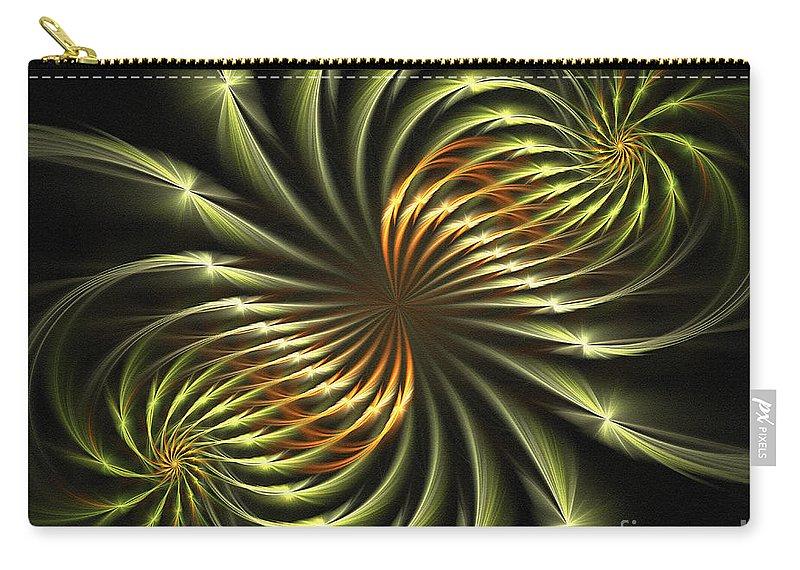 Fractal Carry-all Pouch featuring the digital art Delicate Grace by Deborah Benoit