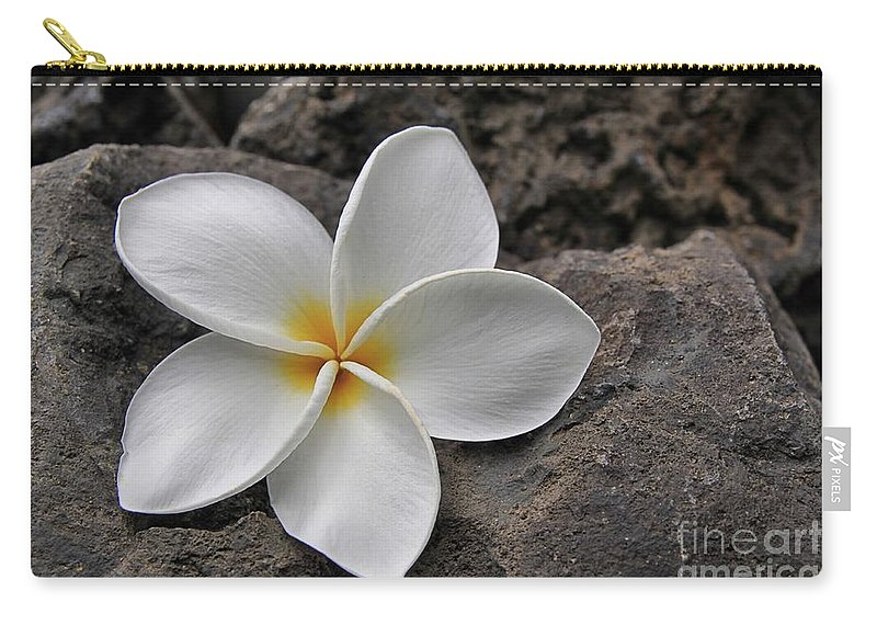 Plumeria Carry-all Pouch featuring the photograph Delicate Induration by DJ Florek