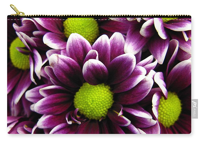 Purple Carry-all Pouch featuring the photograph Delicate Purple by Rhonda Barrett