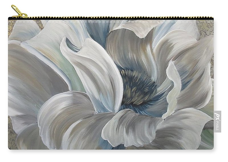Carry-all Pouch featuring the painting Delicate Reveal by Amy Chenoweth
