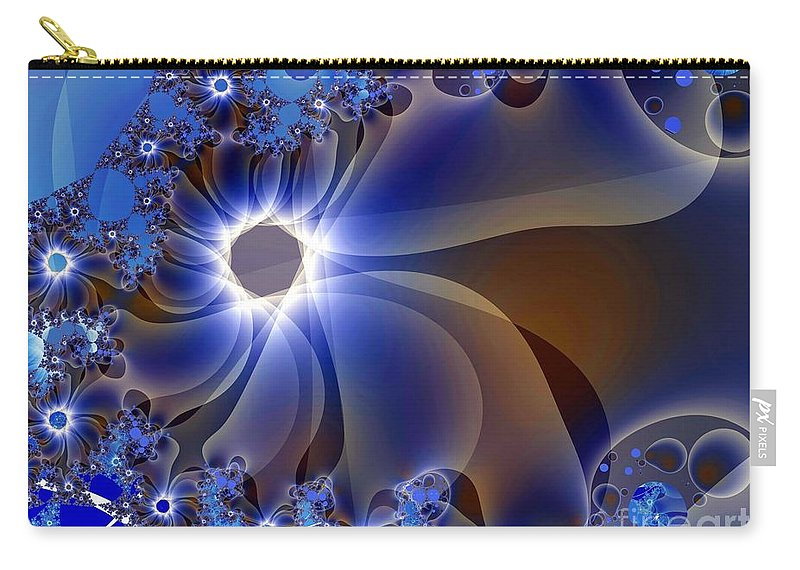 Delicate Carry-all Pouch featuring the digital art Delicatus by Ron Bissett
