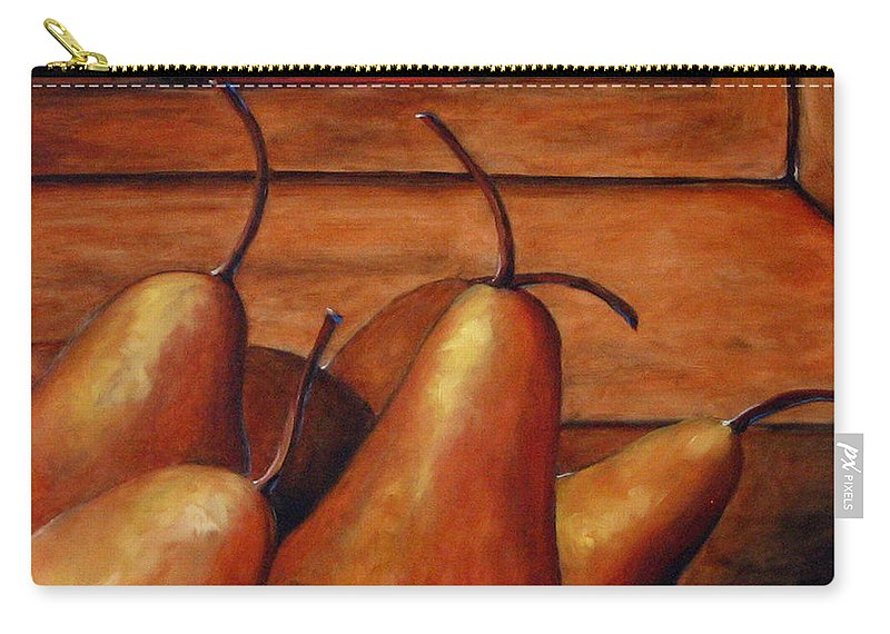 Pears Carry-all Pouch featuring the painting Delicious Pears by Richard T Pranke