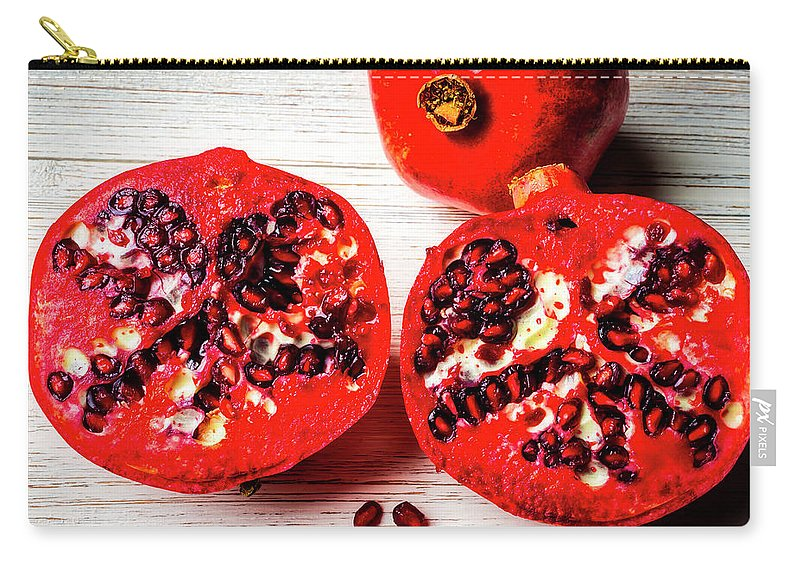 Pomegranate Carry-all Pouch featuring the photograph Delicious Pomegranate by Garry Gay