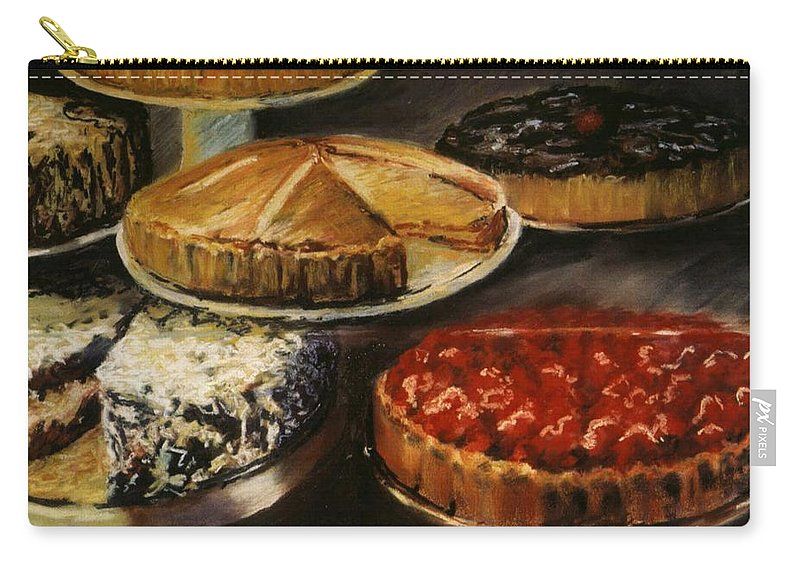 Still Life Food Dessert Pie Delicious Carry-all Pouch featuring the pastel Delicious Zero Calories by Pat Snook