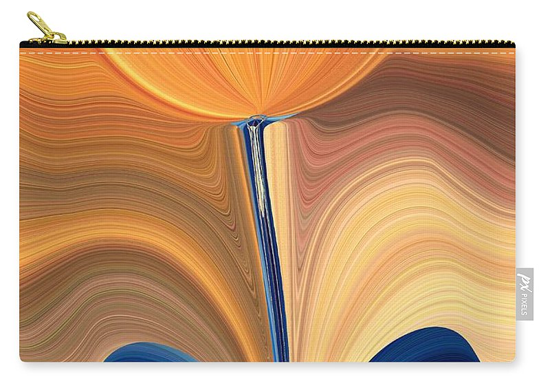 Bloom Carry-all Pouch featuring the digital art Delighted by Tim Allen