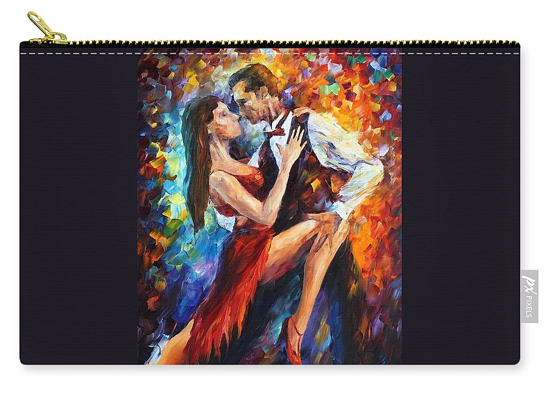 Afremov Carry-all Pouch featuring the painting Delightful Tango by Leonid Afremov
