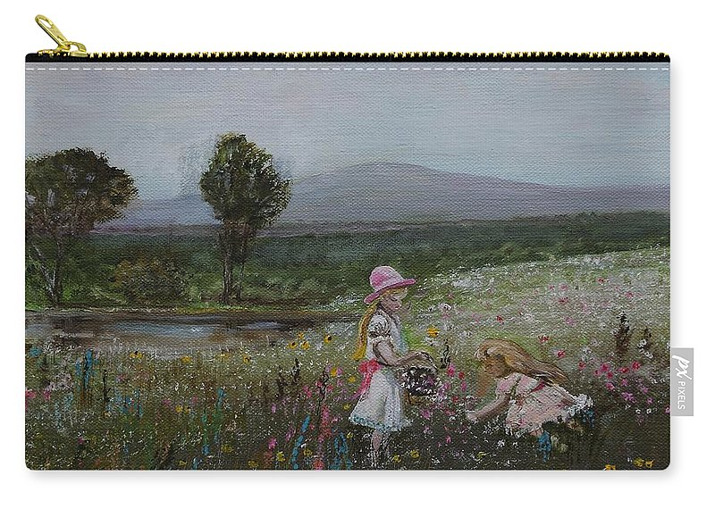 Impressionist Carry-all Pouch featuring the painting Delights Of Spring - Lmj by Ruth Kamenev