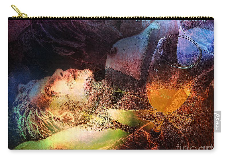 Fantasy Carry-all Pouch featuring the painting Delirium Tremens by Miki De Goodaboom