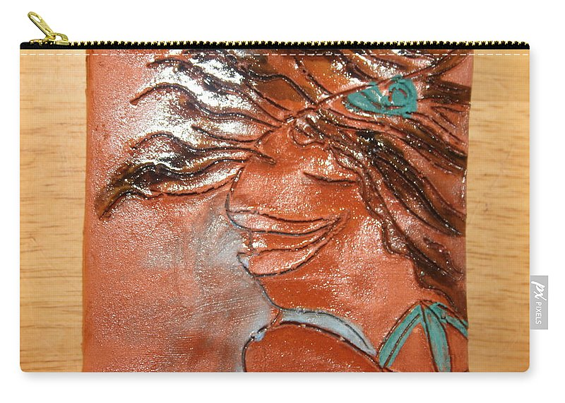 Jesus Carry-all Pouch featuring the ceramic art Della - Tile by Gloria Ssali