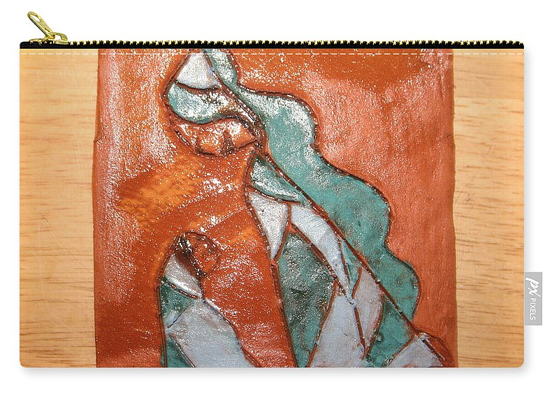 Jesus Carry-all Pouch featuring the ceramic art Dellas Gal - Tile by Gloria Ssali