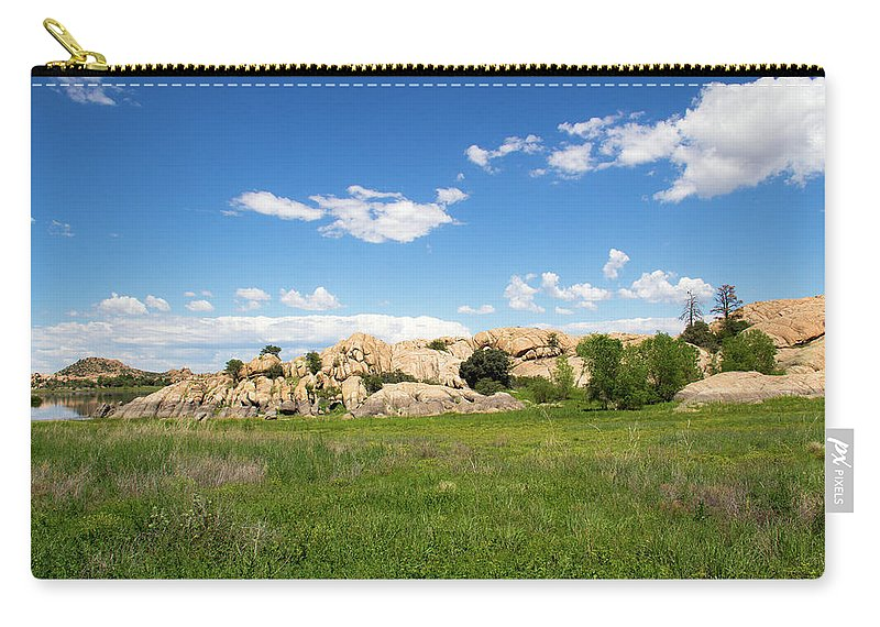 Landscape Carry-all Pouch featuring the photograph Dells And Lake by Amy Sorvillo