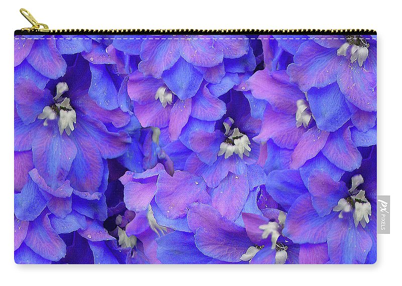 Sunlight Carry-all Pouch featuring the photograph Delphinium Blue by Shirley Heyn
