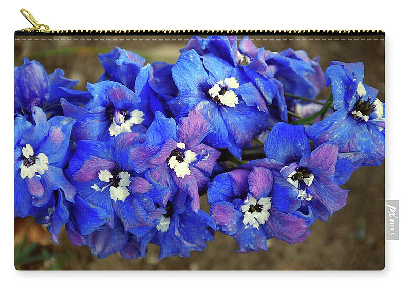 Carry-all Pouch featuring the photograph Delphinium by Christine Dellosso