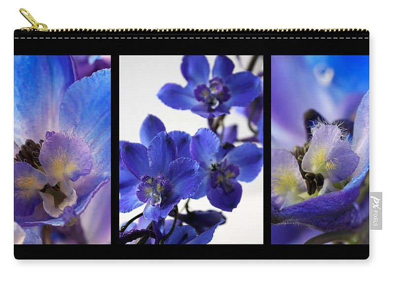 Lauren Radke Carry-all Pouch featuring the photograph Delphinium Study by Lauren Radke