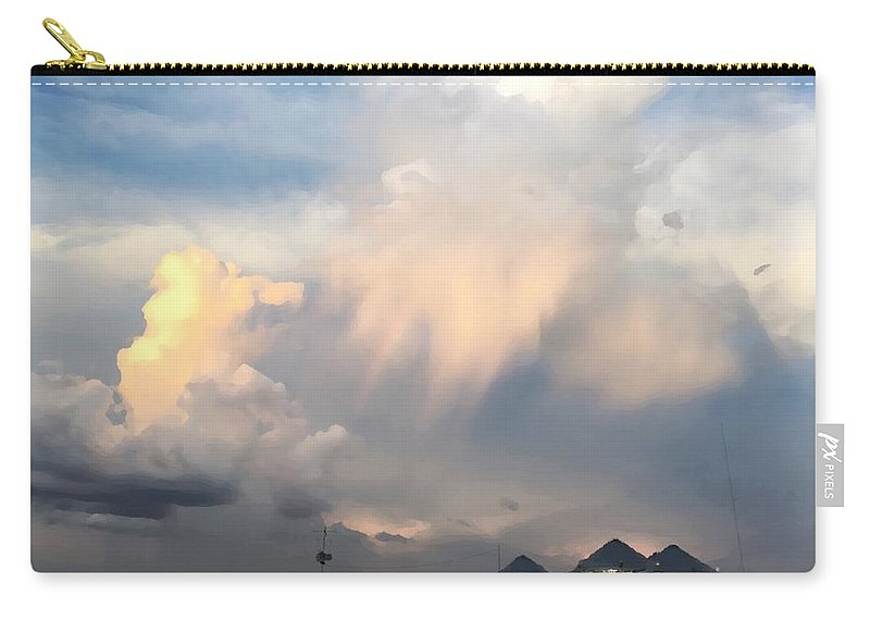 Carry-all Pouch featuring the photograph Delta Blues by Lisa Fletcher