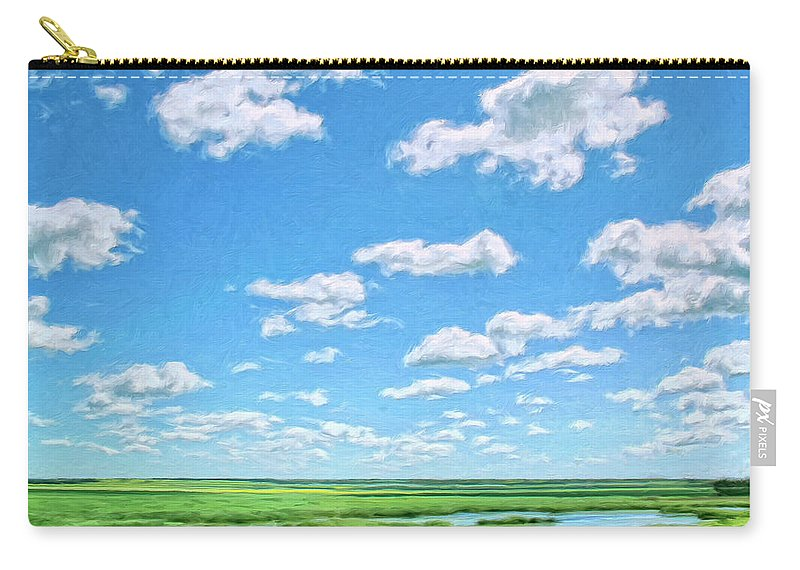 Delta Carry-all Pouch featuring the painting Delta Day by Dominic Piperata