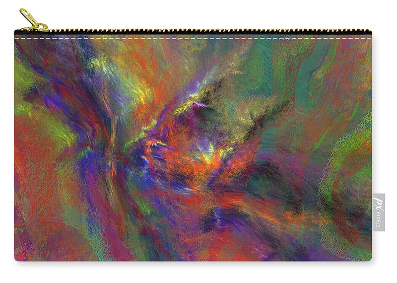 Pastel Carry-all Pouch featuring the digital art Delta Flow by Diane Parnell