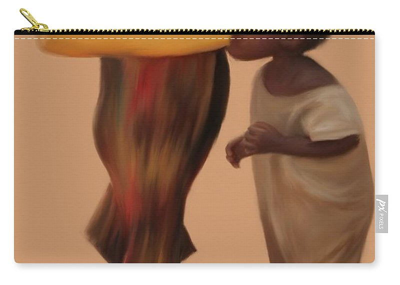 Water Carry-all Pouch featuring the painting Demand For Clean Water 1 by Jack Bunds