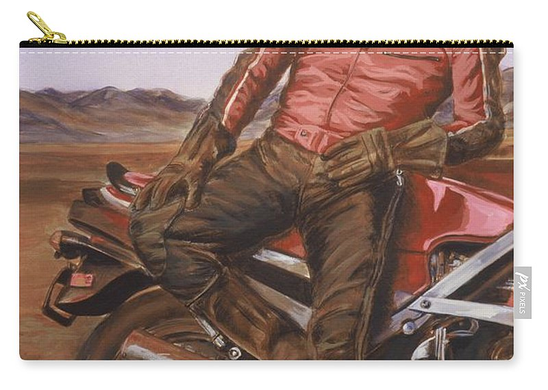 Dennis Hopper Carry-all Pouch featuring the painting Dennis Hopper by Bryan Bustard