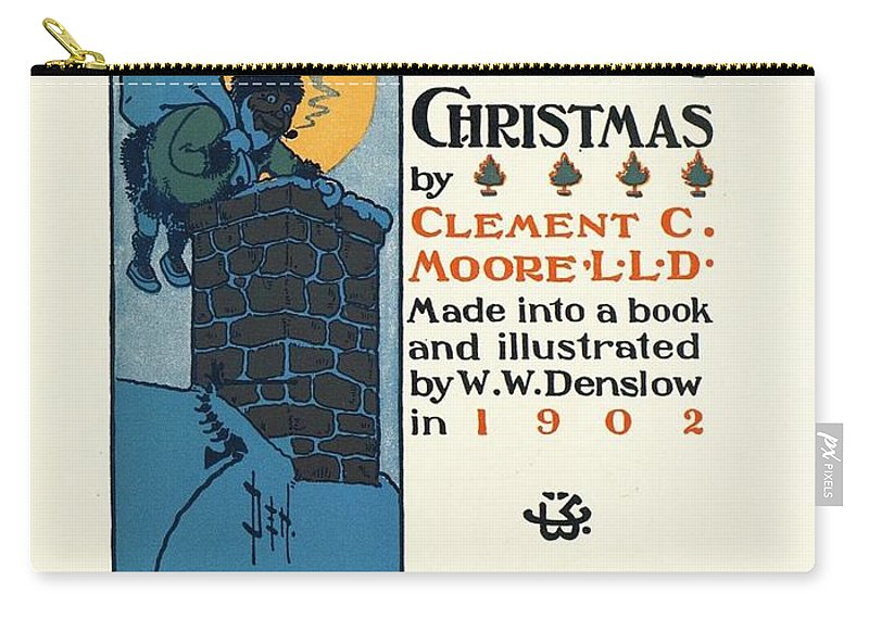 Denslows Night Before Christmas Carry-all Pouch featuring the painting Denslows Night Before Christmas By Clement Moore Lld 1902 by R Muirhead Art