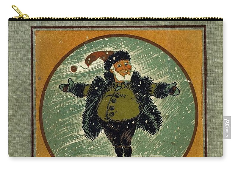 Denslows Carry-all Pouch featuring the painting Denslows Night Before Christmas by R Muirhead Art