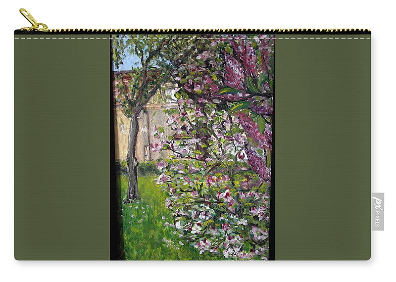 Landscape Carry-all Pouch featuring the painting Dentist Flowers by Pablo de Choros