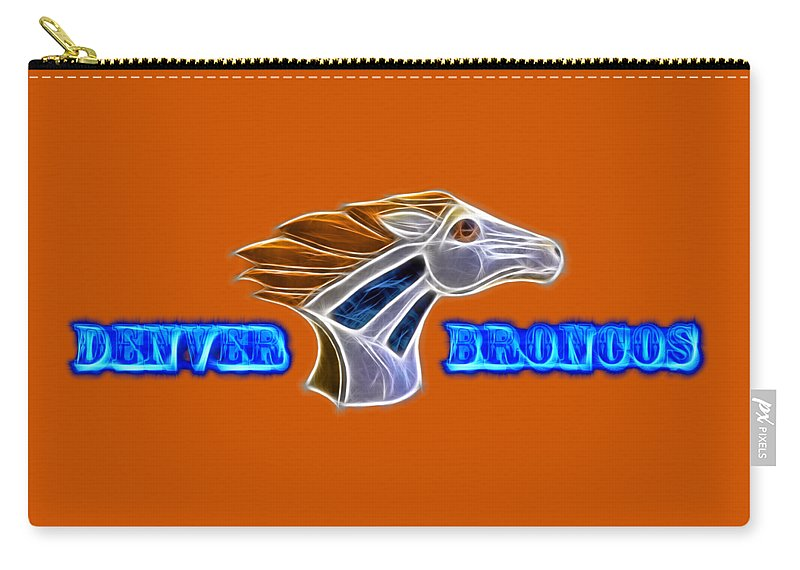 Denver Broncos Carry-all Pouch featuring the photograph Denver Broncos by Shane Bechler