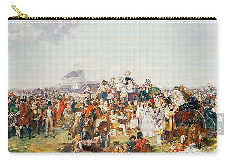 Derby Carry-all Pouch featuring the painting Derby Day by William Powell Frith