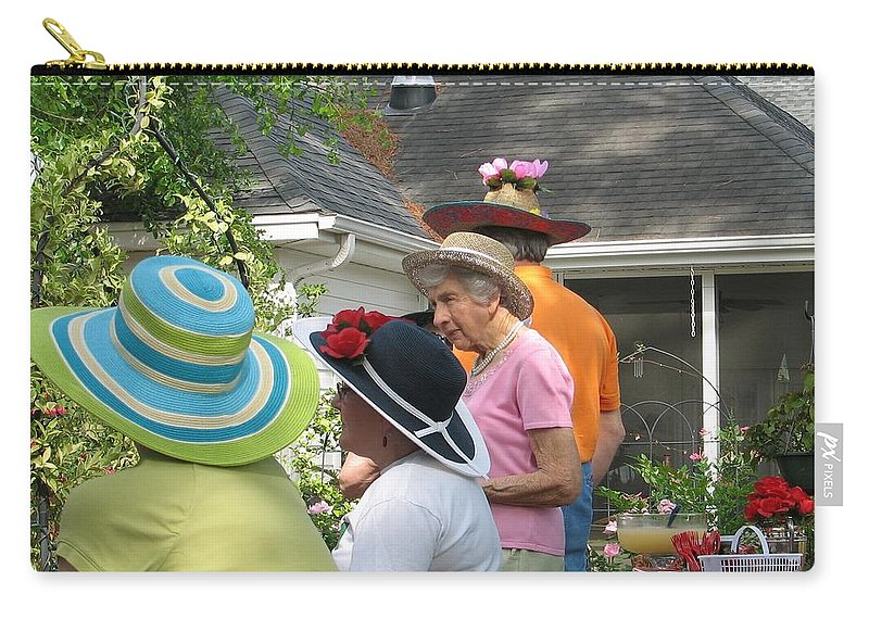 Hat Carry-all Pouch featuring the photograph Derby Party by Kelly Mezzapelle