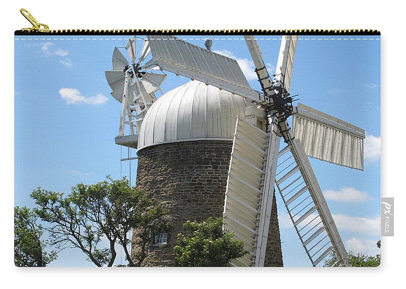 Windmill.derbyshire Windmill Carry-all Pouch featuring the photograph Derbyshire Windmill by Bob Kemp