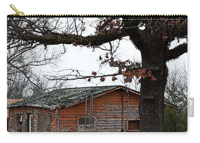 Hope Carry-all Pouch featuring the photograph Derelict In Hope by PJ Boylan