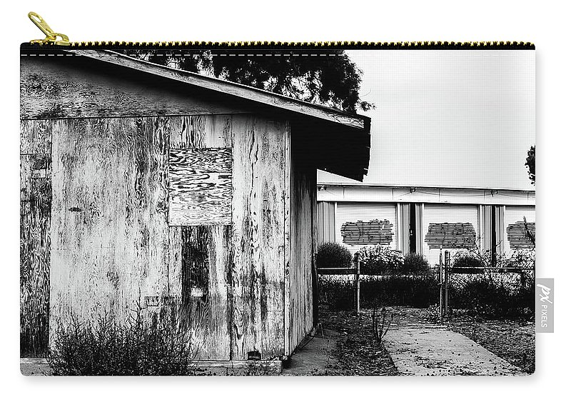 Shack Carry-all Pouch featuring the digital art Derelict Shack by Stevie Benintende
