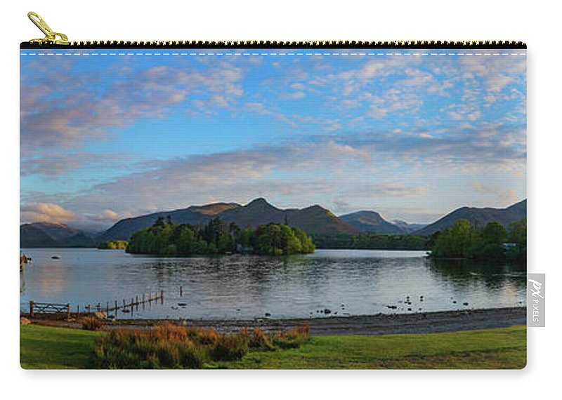 Derwentwater Carry-all Pouch featuring the photograph Derwentwater Spring Sunset by John Collier
