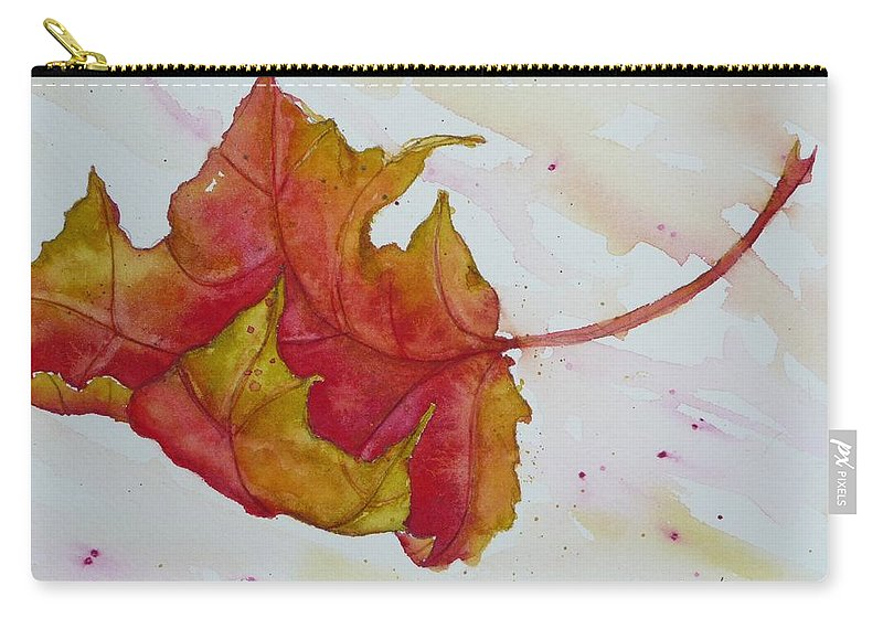 Fall Carry-all Pouch featuring the painting Descending by Ruth Kamenev