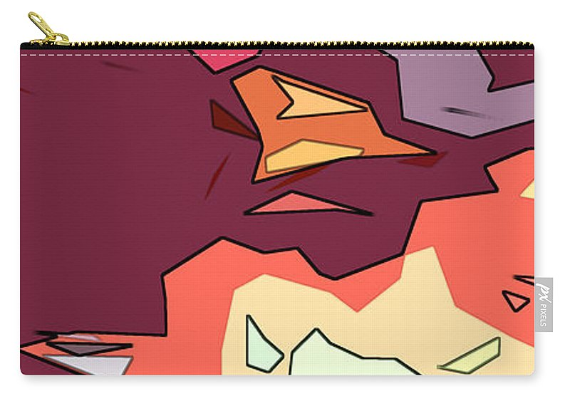 Abstract Carry-all Pouch featuring the digital art Desert Aspect Panel One Of Three by Linda Mears