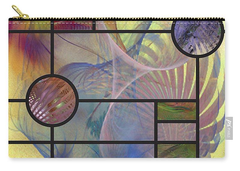 Desert Blossoms Carry-all Pouch featuring the digital art Desert Blossoms by John Beck