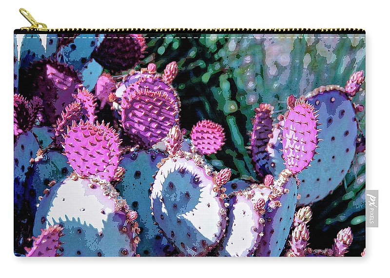 Cactus Carry-all Pouch featuring the mixed media Desert Blush by Dominic Piperata
