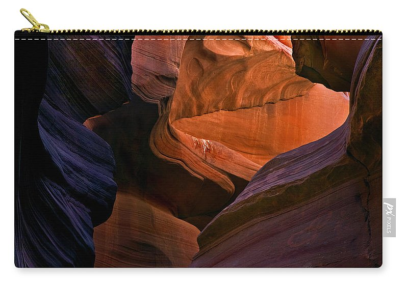 Sandstone Carry-all Pouch featuring the photograph Desert Bridge by Mike Dawson