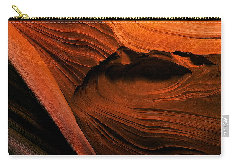 Antelope Canyon Carry-all Pouch featuring the photograph Desert Carvings by Mike Dawson