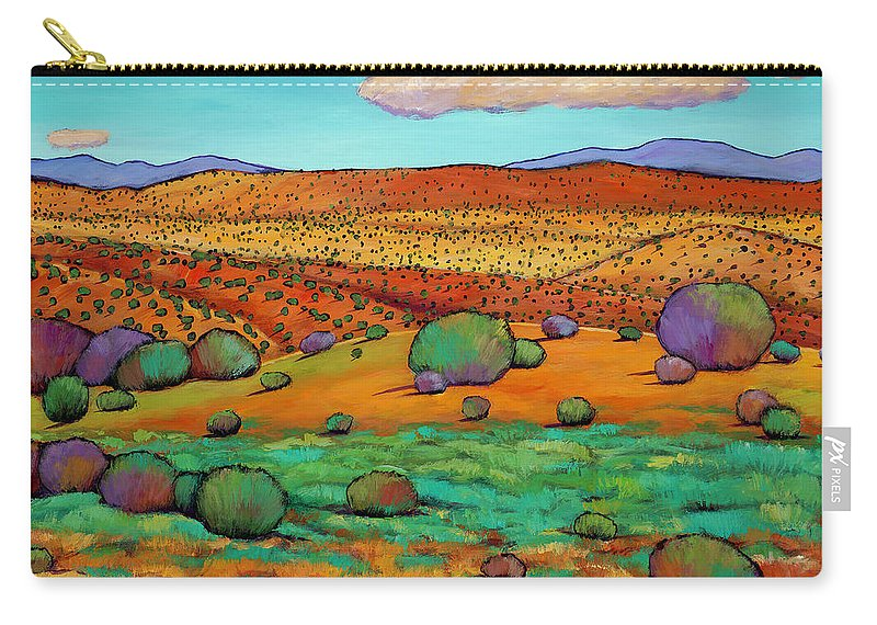 New Mexico Desert Carry-all Pouch featuring the painting Desert Day by Johnathan Harris