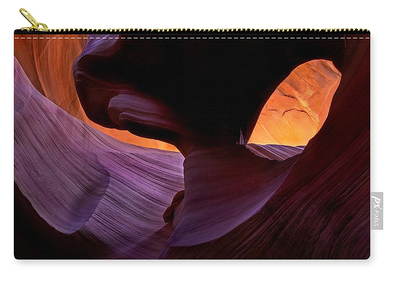 Eye Carry-all Pouch featuring the photograph Desert Eye by Mike Dawson
