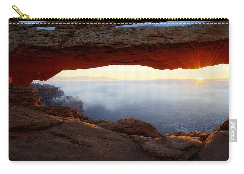 Desert Fog Carry-all Pouch featuring the photograph Desert Fog by Chad Dutson