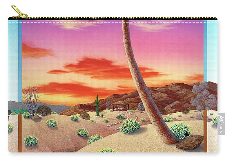 Landscape Carry-all Pouch featuring the painting Desert Gazebo by Snake Jagger