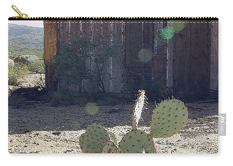 Cabin Carry-all Pouch featuring the photograph Desert Home by Nelson Strong