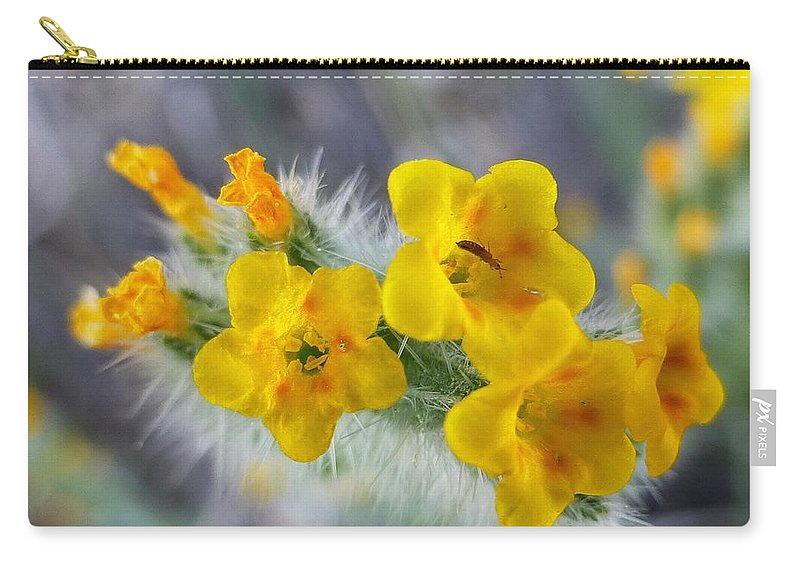 Desert Carry-all Pouch featuring the photograph Desert In Bloom by Melinda Marsh