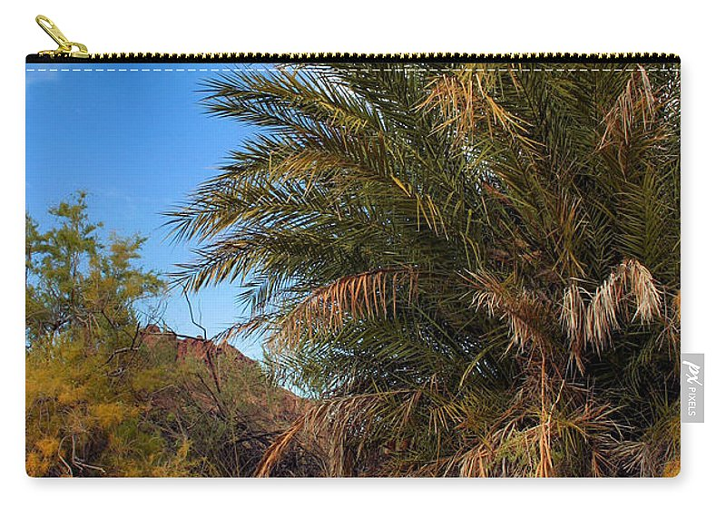 Desert Carry-all Pouch featuring the photograph Desert Isle by Kristin Elmquist