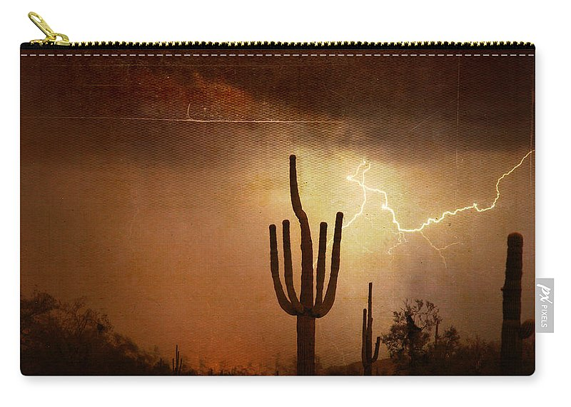 Southwest Carry-all Pouch featuring the photograph Desert Landscape Southwest by James BO Insogna