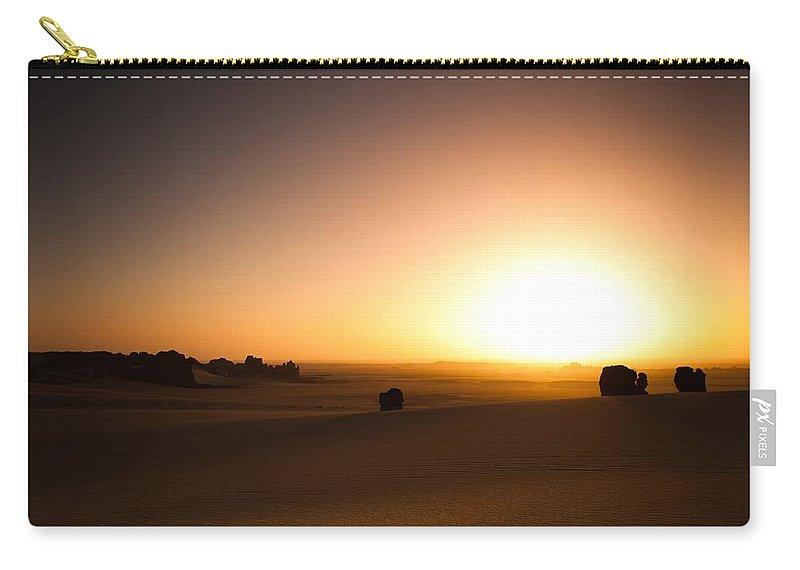 Desert Carry-all Pouch featuring the digital art Desert by Maye Loeser