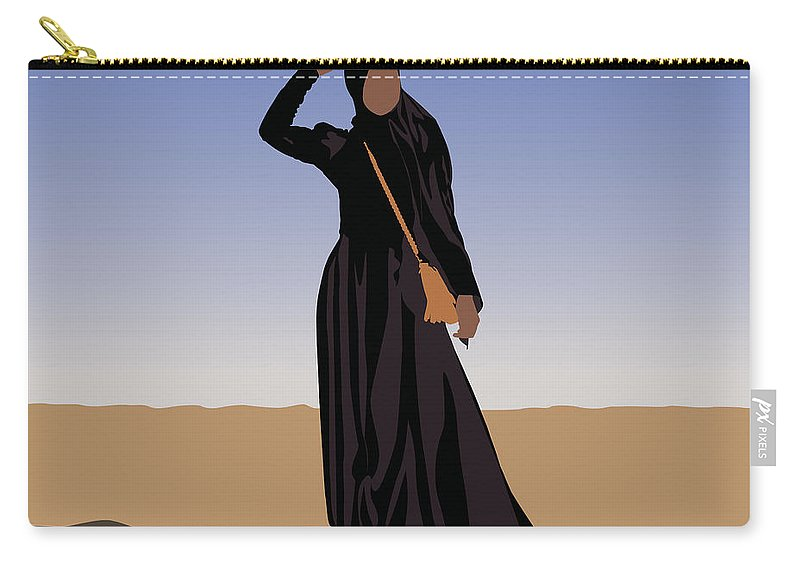Muslim Carry-all Pouch featuring the digital art Desert Oasis by Scheme Of Things